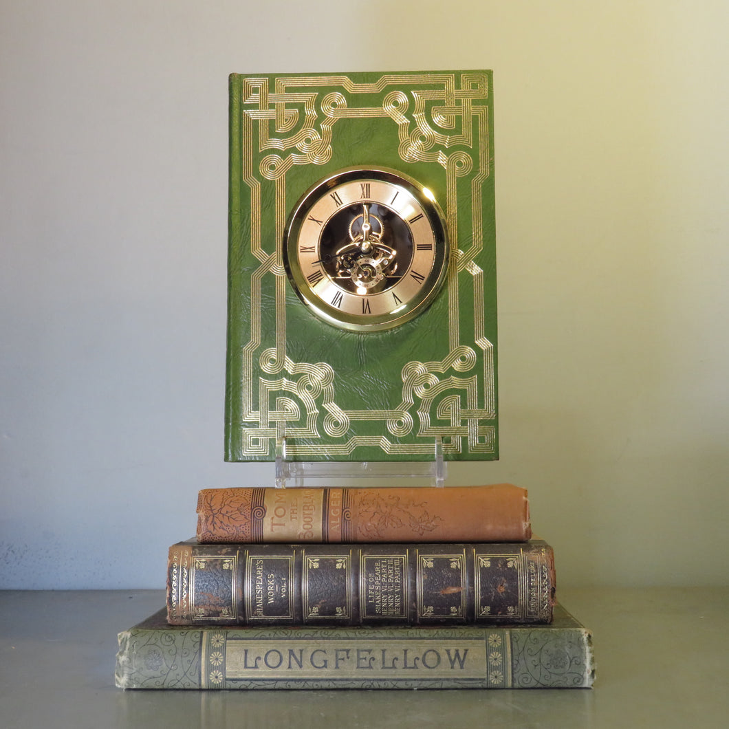 Book Clock with Skeleton Gears - Smithsonian Scientific Series