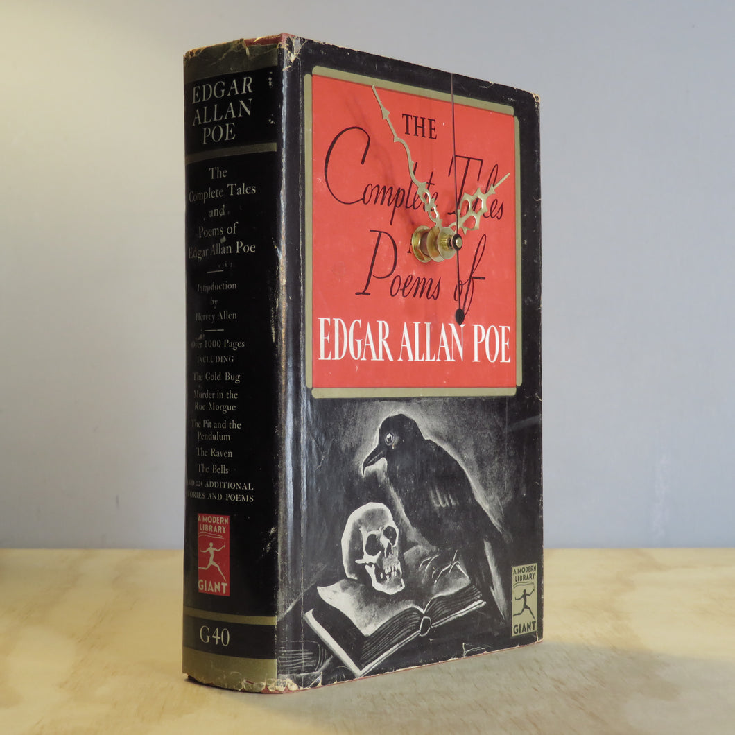 Edgar Allen Poe - The Complete Tales and Poems - Vintage Book Clock