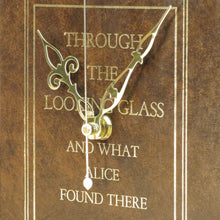 Load image into Gallery viewer, Through The Looking Glass - And What Alice Found There - Lewis Carol Book Clock