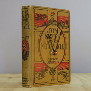 Tom Swift And His Motorcycle Vintage Book Clock