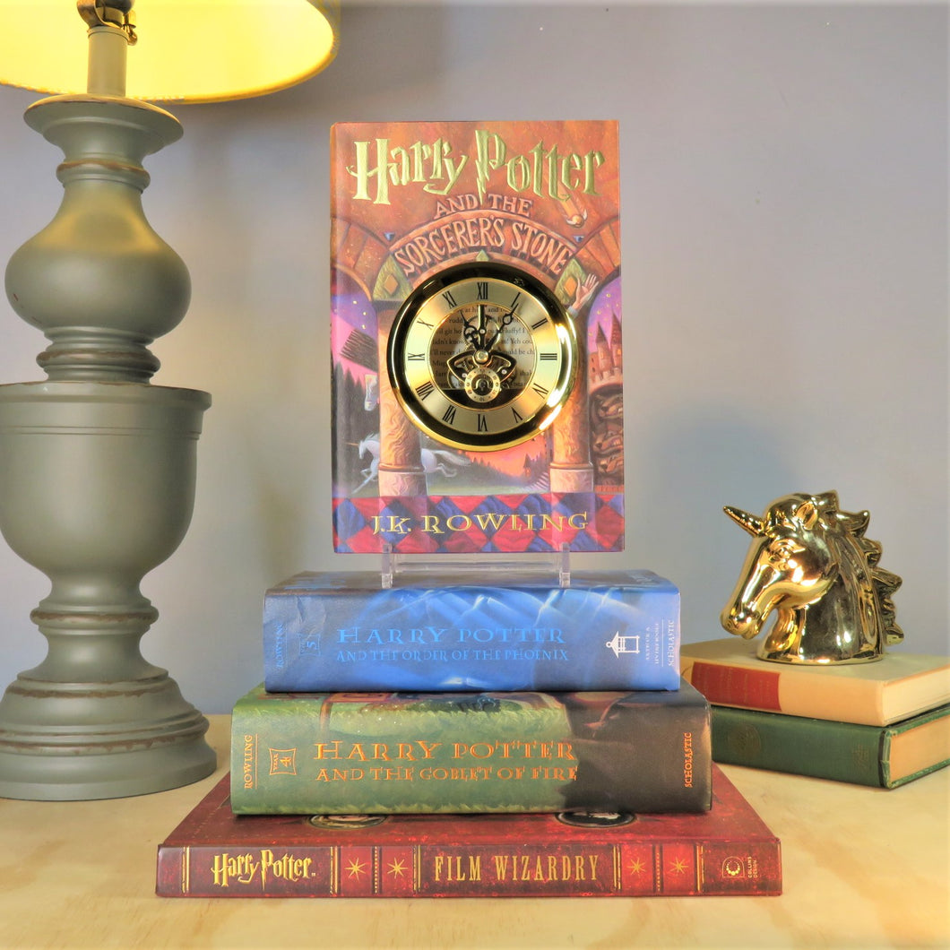 Harry Potter and the Scorcerer's Stone Skeleton Gears Book Clock
