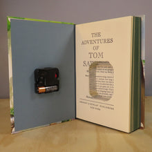 Load image into Gallery viewer, The Adventures of Tom Sawyer Book Clock by Mark Twain
