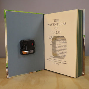 The Adventures of Tom Sawyer Book Clock by Mark Twain