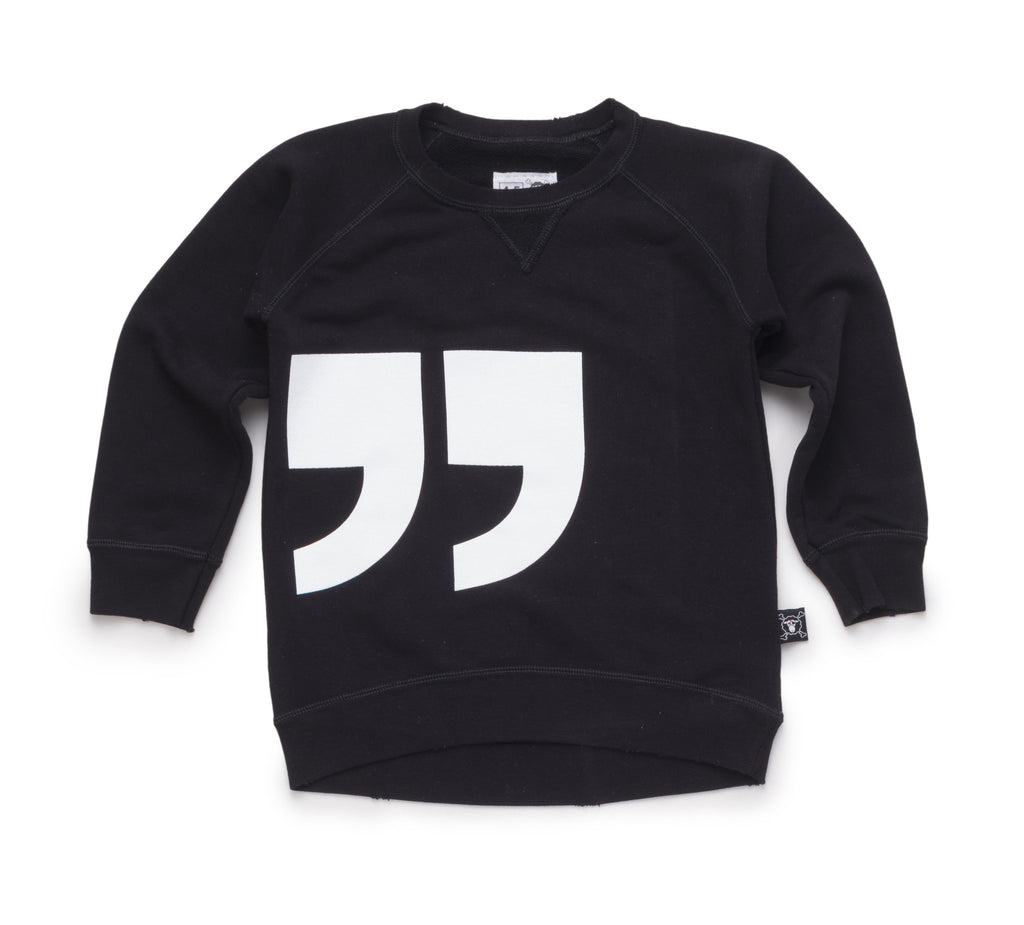 quotation pullover
