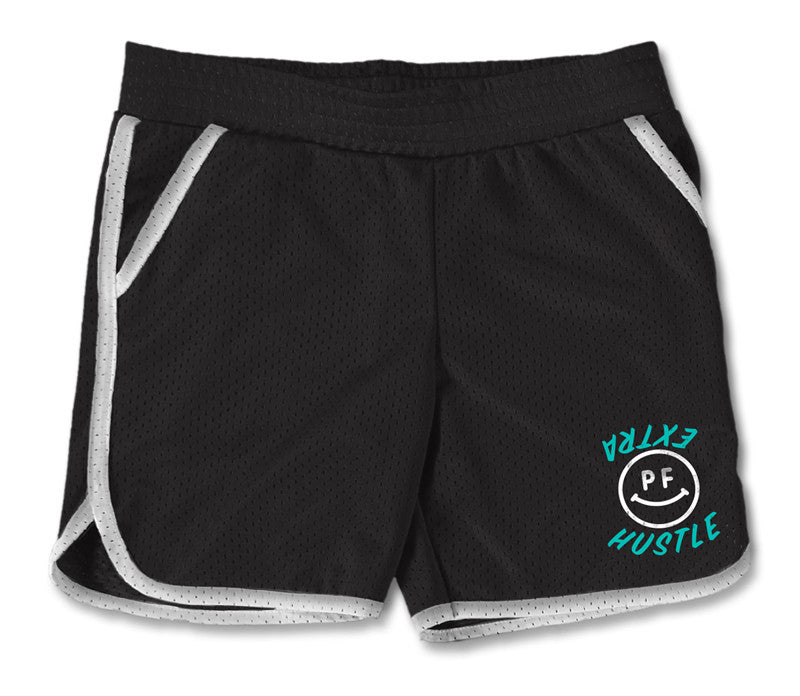 EXTRA HUSTLE - GYM SHORTS - BLACK