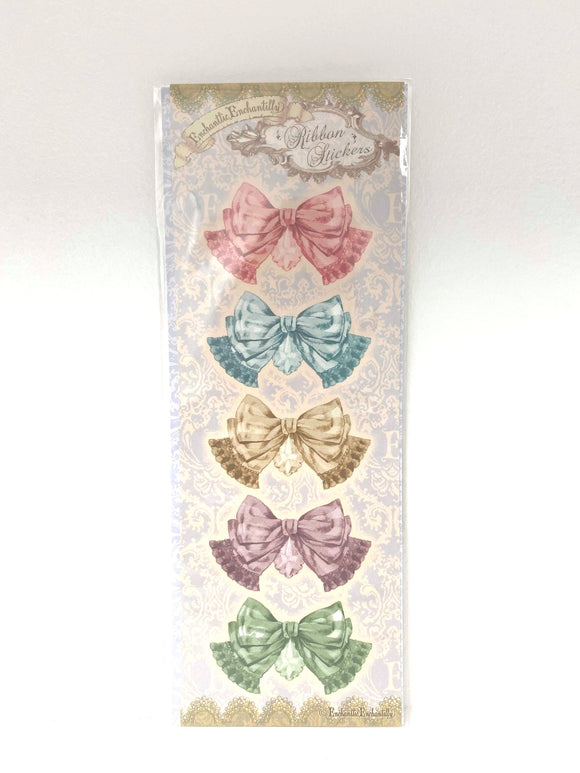 Chandelier Ribbon Sticker Seals and Message Stationary - Light Blue