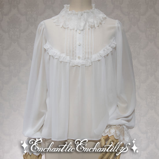 Dolly Tulle Lace Blouse - Off White