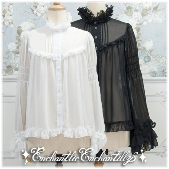 Rose Lace Blouse - Black