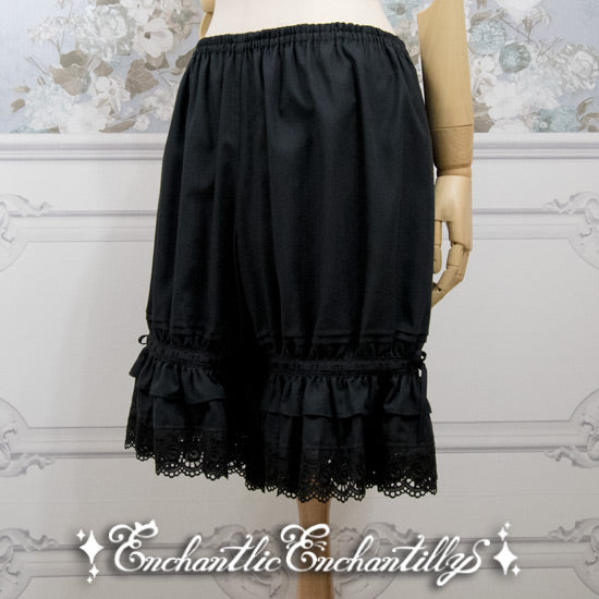 Rose Lace Drawers - Black