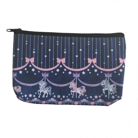 Sweet Dream Carousel Makeup Bag - Navy