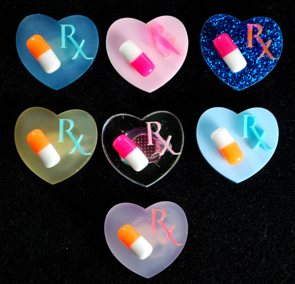 Menhera Rx Pill Rings - Orange