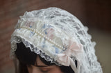 Lace Frill Flower Mini Veiled Headdress