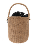 Lace-Up Basket Bag - Black