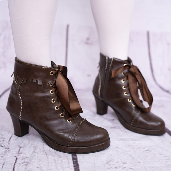 Sweet Chocolate Journey Boots - Brown