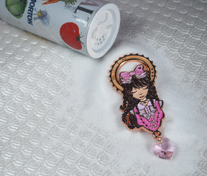Our Lady of Salt - ScarfingScarves Collaboration Enamel Pin