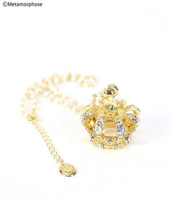 Couronne mignonne Necklace - Crystal