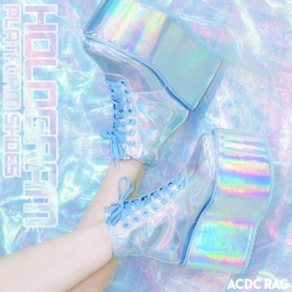 Holographic Platform Sneaker - Medium