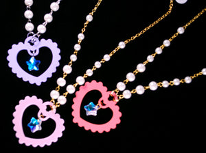 Pop Star Necklaces - Red