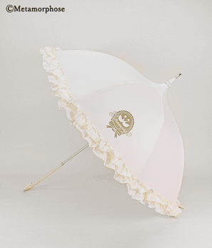 Ribbon Swan Parasol/Umbrella - Antique White