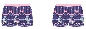 Sweet Dream Carousel Shorts - Purple