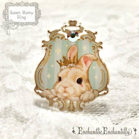 Queen Bunny Mint Dolled-Up Ring