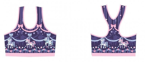 Sweet Dream Carousel Sports Bra - Purple