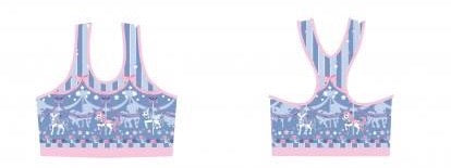 Sweet Dream Carousel Sports Bra - Blue