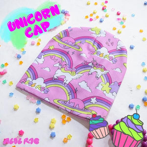 Rainbow Unicorn Knit Cap