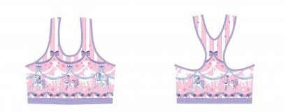 Sweet Dream Carousel Sports Bra - Pink