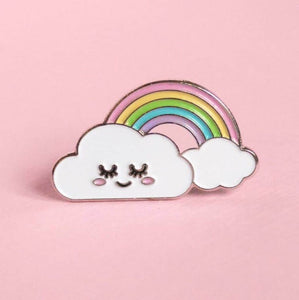 Happy Cloud Rainbow Pin