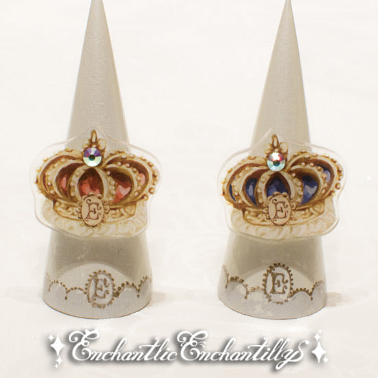 Blue Crown Dolled-Up Ring