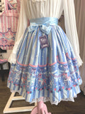Sweet Dream Carousel Skirt - Blue