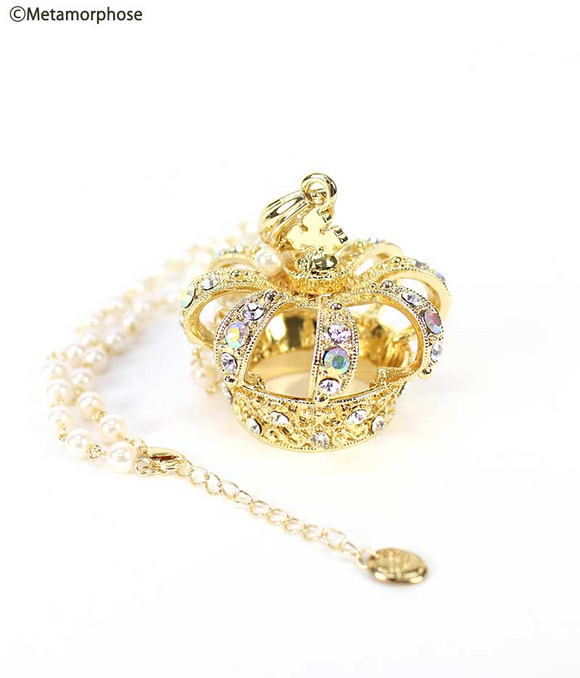 Grande couronne Necklace - Crystal