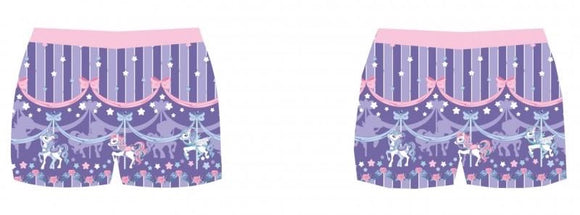 Sweet Dream Carousel Shorts - Lavender