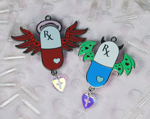 Pick Me Up Pill Pins - Red