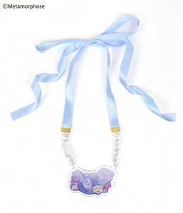 Rondo of Jellyfish Ribbon Necklace - Sax