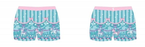Sweet Dream Carousel Shorts - Mint