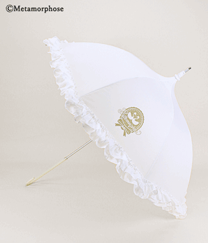 Ribbon Swan Parasol/Umbrella - Off White
