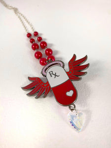 Pick Me Up Pill Necklaces - Red