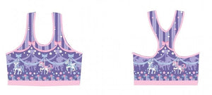 Sweet Dream Carousel Sports Bra - Lavander