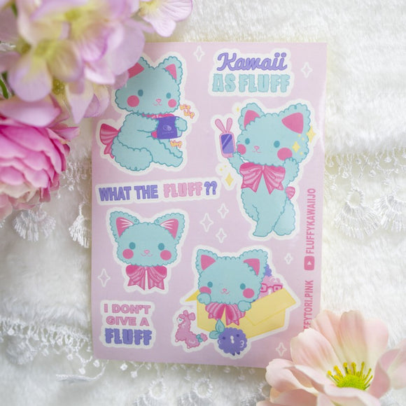 Kawaii AF Kitty Sticker Sheet