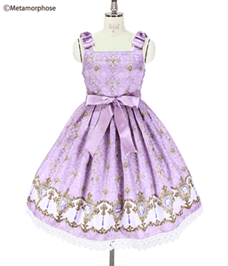 Holiness Cameo Ribbon Pinafore JSK