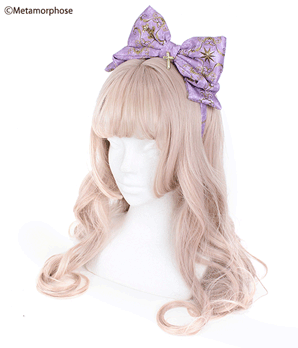 Holiness Cameo Ribbon Headband - Lilac
