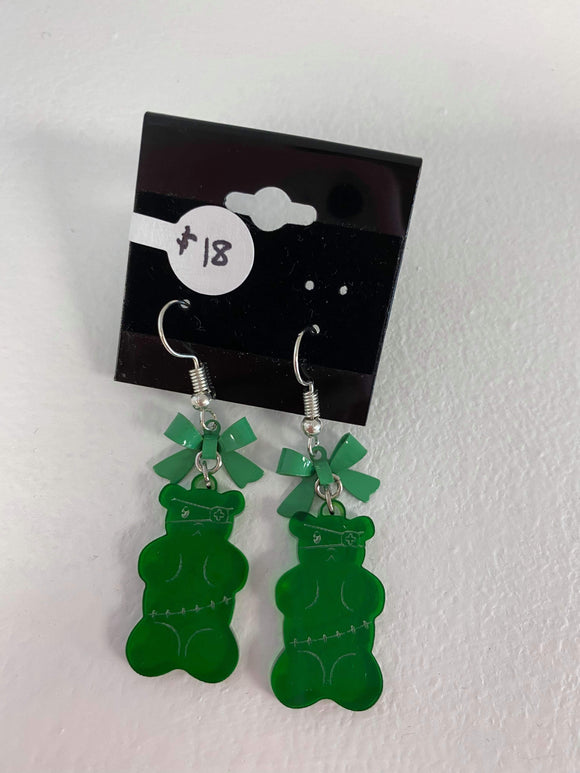 Zommbie Gummy Earring - Green