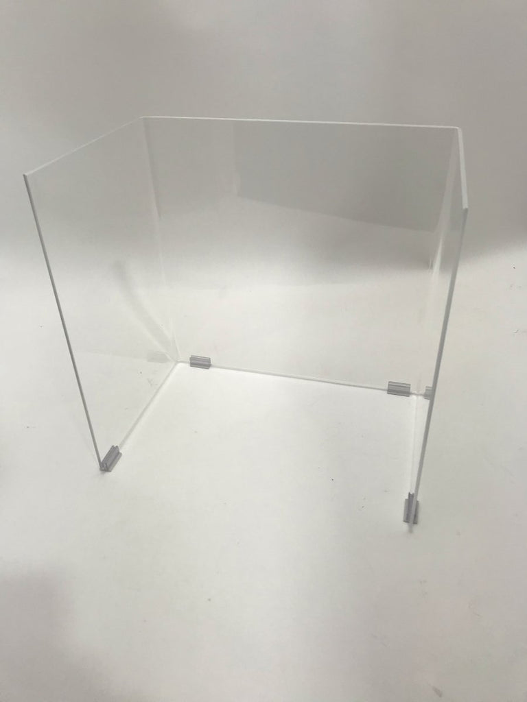Student Desk Free-Standing Barrier (with Base) for School College University - Fast Acrylic