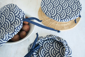 Indigo Bowl Covers (Drawstring)
