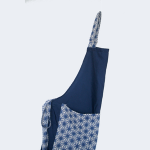 Indigo Pocket Pattern Apron