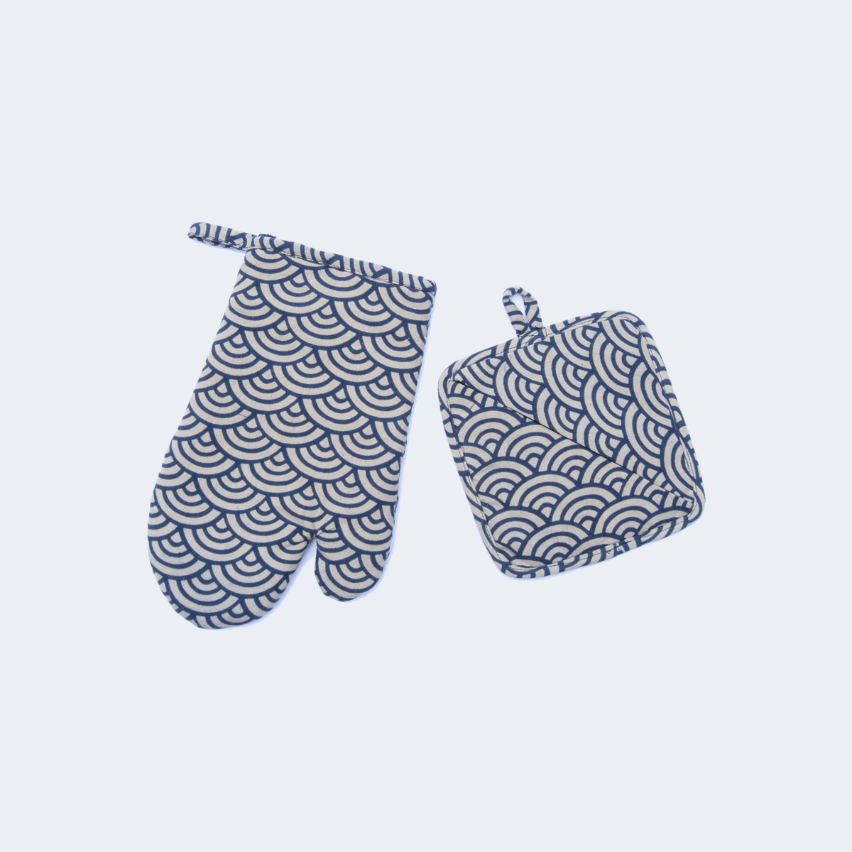Indigo Oven Mitt & Pot Holder Set