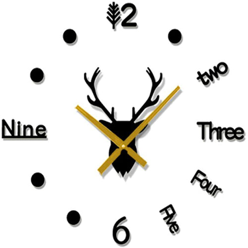 DIY Deer Head Creative Wall Clock