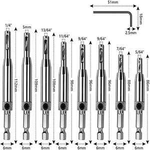 Self-Centering Hole Drill Bit(🔥Buy 1 Get 1 Hex Key🔥)